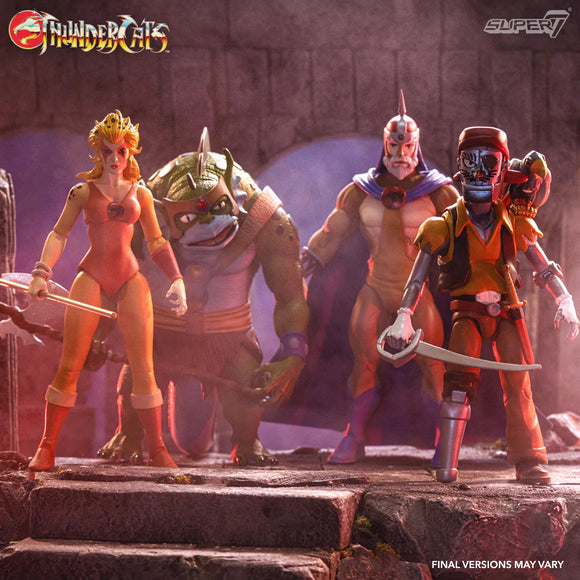 Super7 ThunderCats Ultimates Wave 3 Jaga, Cheetara, Slithe & Captain Cracker Set of 4 Figures