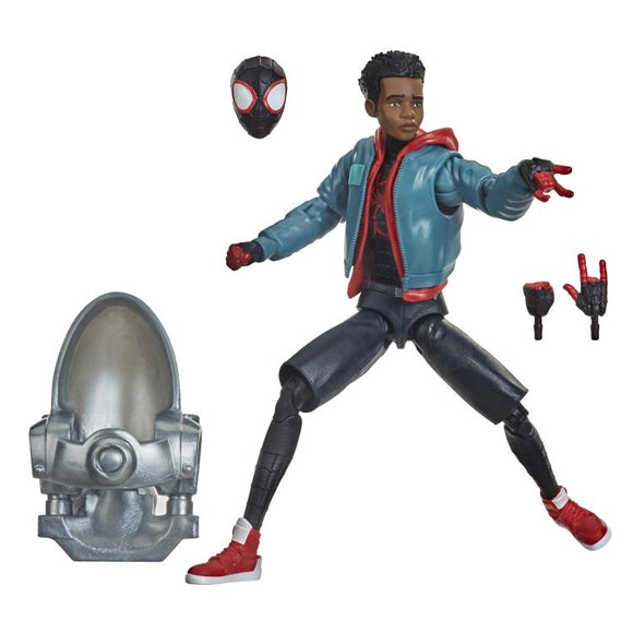 Hasbro Marvel Legends Spider-Man Into the Spider-Verse Miles Morales (Stilt-Man BAF) 6-Inch Action Figure