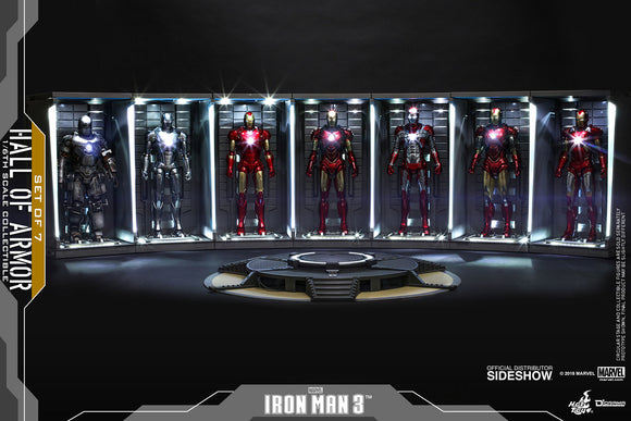 Hot Toys Marvel Iron Man 1/6 Scale Diorama Accessory Hall of Armor Set of 7