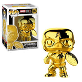 Funko Pop Marvel Studios 10th Anniversary Captain America (Gold Chrome) Figure