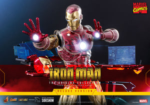 Hot Toys Marvel Comics The Origins Collection - Comics Masterpiece Series Diecast Iron Man (Delxue) 1/6 Scale Collectible Figure