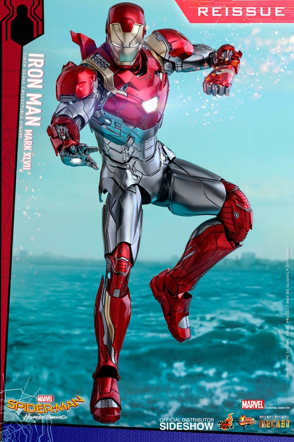 Hot Toys Marvel Comics Spider-Man Homecoming Iron Man Mark XLVII Diecast Reissue  1/6 Scale Collectible Figure
