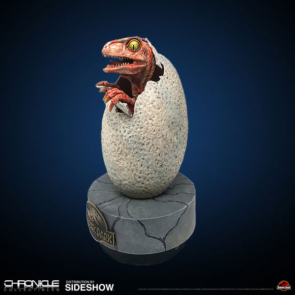 Chronicle Collectibles Jurassic Park Hatching Baby Raptor Prop Replica Statue