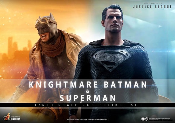 Hot Toys DC Zack Snyder's Justice League TMS038 Batman (Knightmare) and Superman (Black Suit) 1/6 Scale Collectible Figure Set