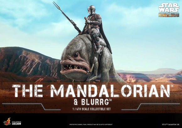 Hot Toys Star Wars The Mandalorian - Television Masterpiece Series Mandalorian & Blurrg 1/6 Scale Collectible Figure Set