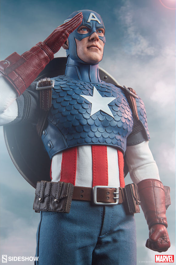 Sideshow Marvel Comics Captain America 1/6 Scale 12