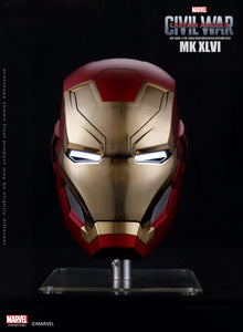Dimension Studio Marvel Captain America Civil War Iron Man Mark XLVI 1/1 Scale LED Motorized Helmet