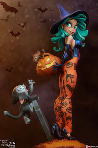 Sideshow Chris Sanders Happy HallowQueens Collection Pumpkin Witch Statue