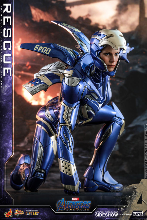 Hot Toys Marvel Comics Avengers Endgame Pepper Potts Rescue Armor Diecast 1/6  Scale Collectible Figure