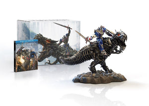 Transformers Age of Extinction Blu Ray Gift Set Grimlock & Optimus Prime Statue