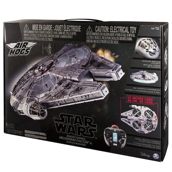 Air Hogs - Star Wars Remote Control Millennium Falcon XL Flying Drone 2.4GHz