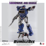 Threezero Bumblebee DLX Scale Collectible Series Soundwave and Ravage Collectible Figure