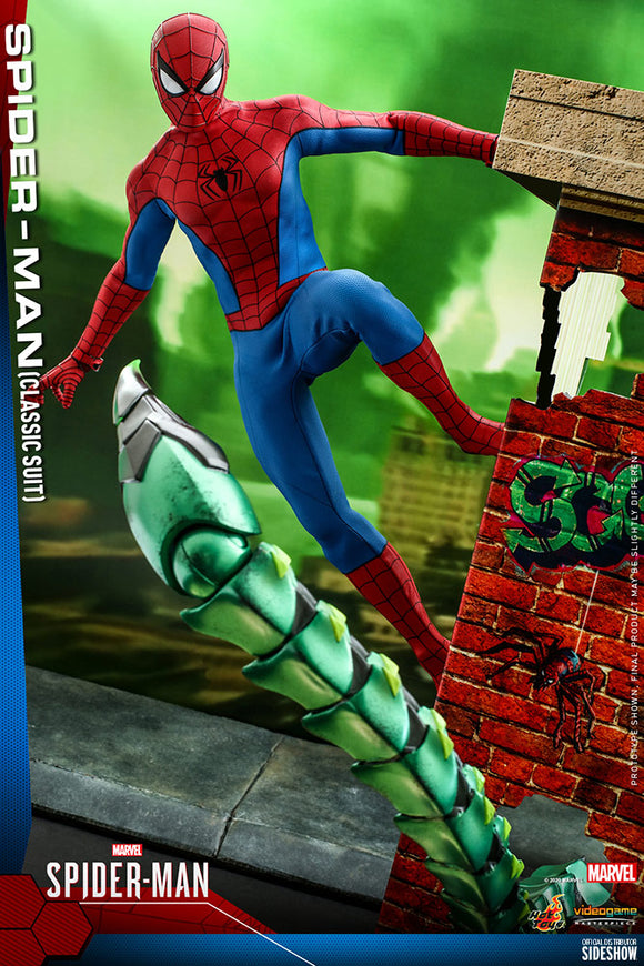 Hot Toys Marvel Spider-Man Game Spider-Man (Classic Suit) 1/6 Scale Collectible Figure