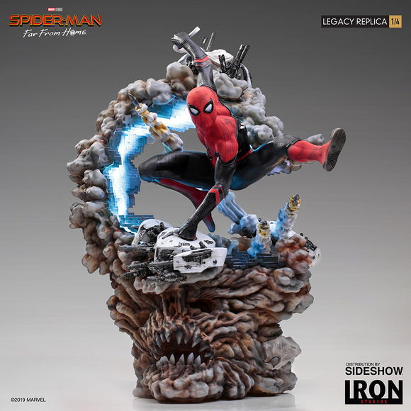 Iron Studios Marvel Spider-Man Far From Home Spider-Man 1/4 Legacy Replica Statue