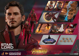 Hot Toys Marvel Comics Avengers Infinity War Star-Lord 1/6 Scale Figure