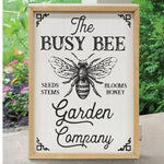 Busy Bee Garden Company Wood Wall Sign