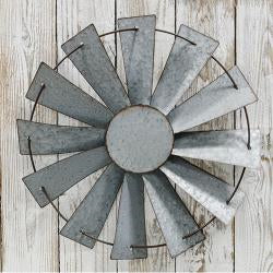 Galvanized Windmill Wall Art