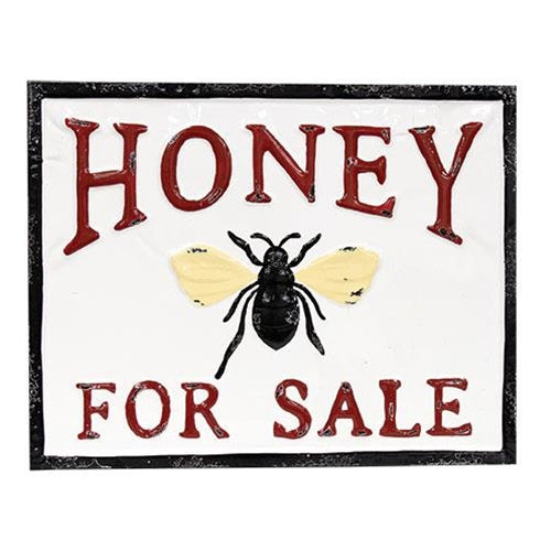 Honey For Sale Vintage Metal Wall Plaque