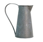 Galvanized Pitcher, 9""