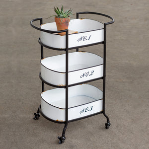 Three-Tier Numbered Cart