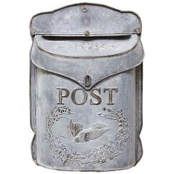 Galvanized Metal Post Box