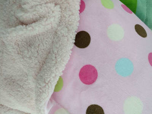 DOUBLE SIDED FUN FLEECE BLANKET WITH SHERPA LINING - FTX Clothing