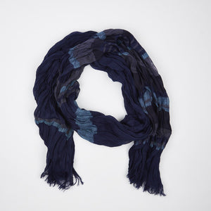 Midnight Blue Cotton Scarf - FTX Clothing