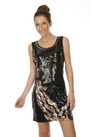 SHORT BLACK DRESS K20108 - FTX Clothing