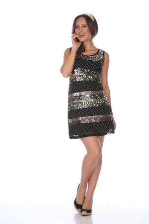 SHORT BLACK DRESS K3822-5 - FTX Clothing
