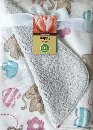 BABY DOUBLE SIDED FUN FLEECE BLANKET - FTX Clothing