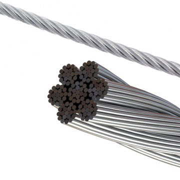 8 mm Aircraft Grade Galvanised Cable, per metre-Cable-ride.com