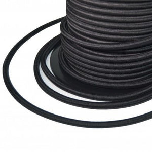 Bungee rope - black - 10 mm - per metre