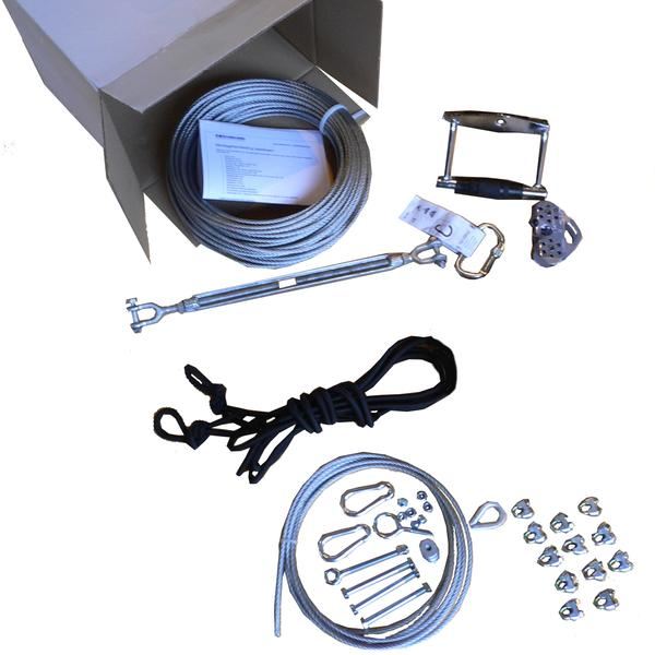 Zipline kit 30 m - Black-Cable-ride.com