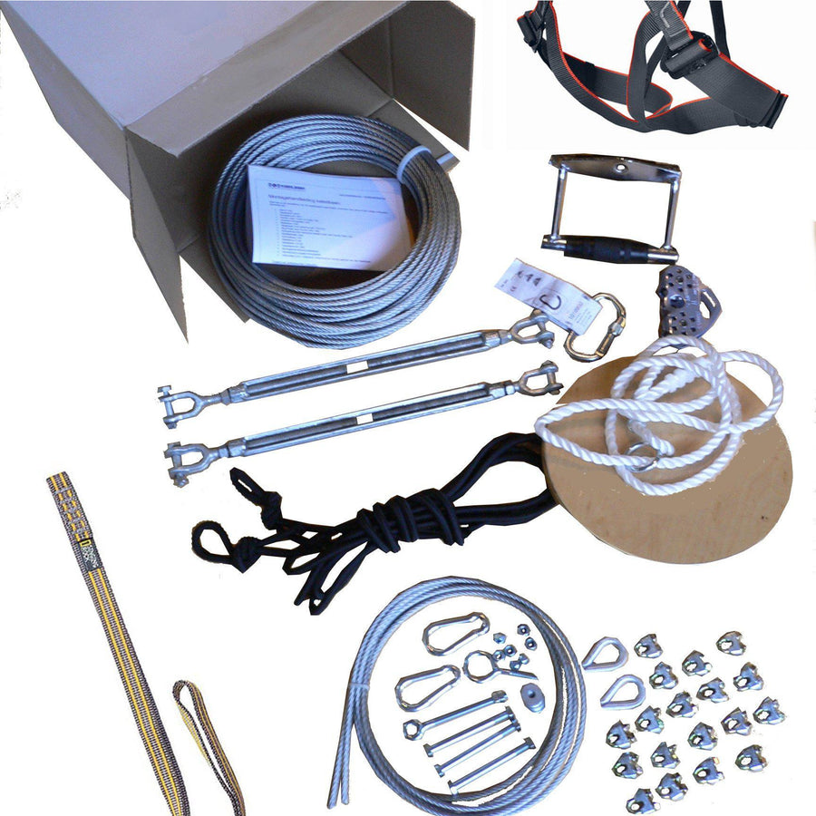 Zipline kit 90 m - Gold-Cable-ride.com