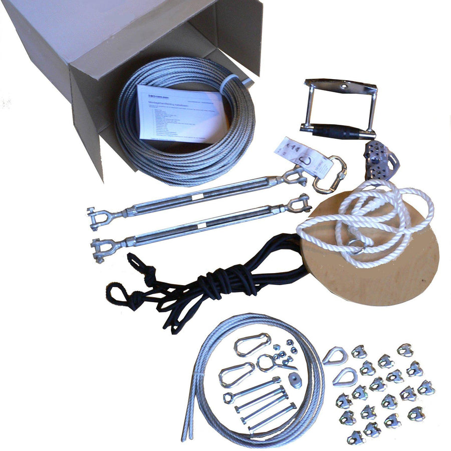 Zipline kit 45 m - Silver-Cable-ride.com