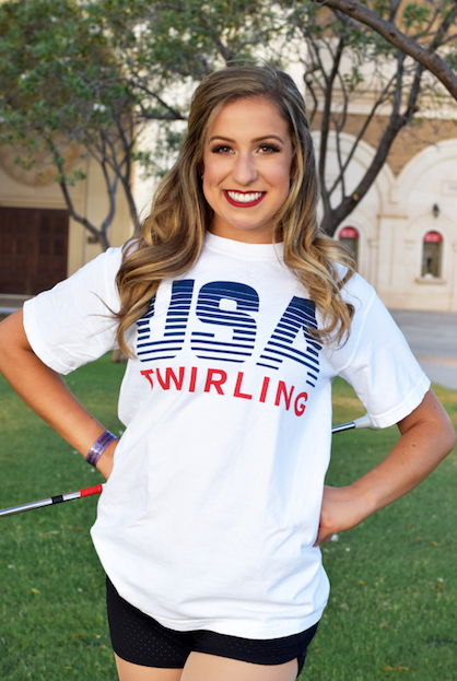 USA Twirling T-Shirt Youth