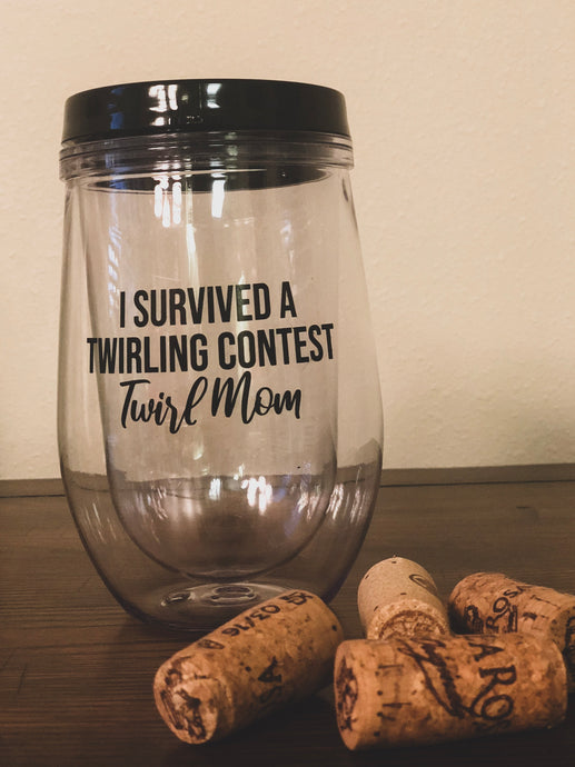 Twirl Mom Wine Tumbler