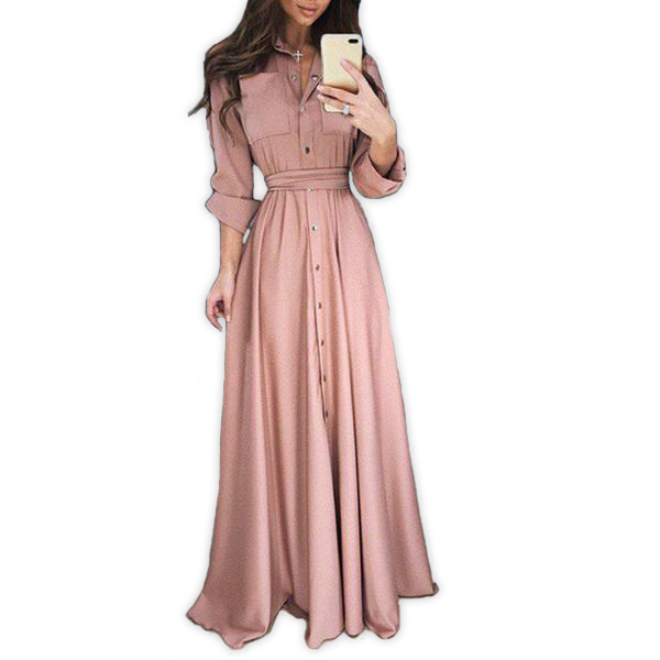 Elegant Long Sleeve Maxi