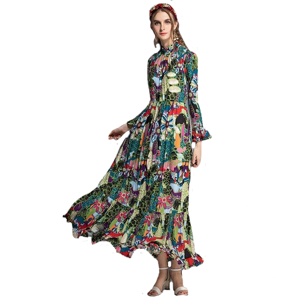 High Quality Floral Maxi
