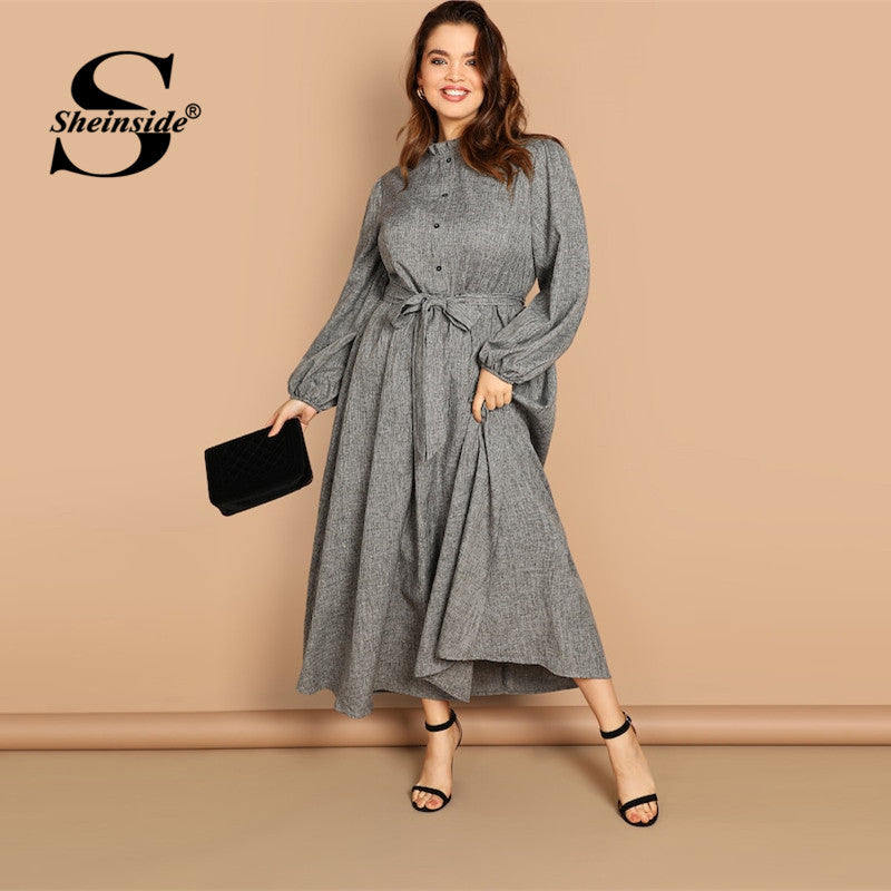Plus Size Grey Maxi
