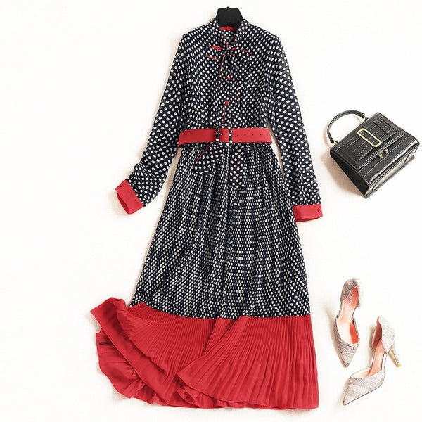 Polka Dot Red Mid Dress