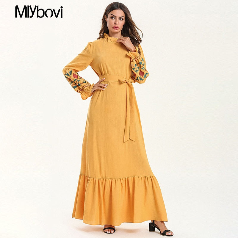 Yellow Loose Dress
