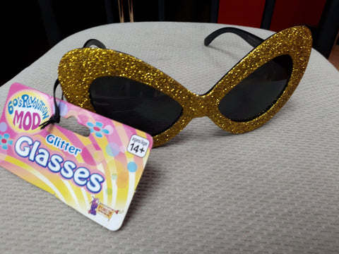 Glasses - Glitter Gold