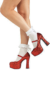Shoes- Red Glitter Platform