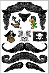 Pirate Stache Tats