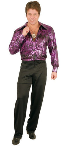 Purple Flame Disco Shirt