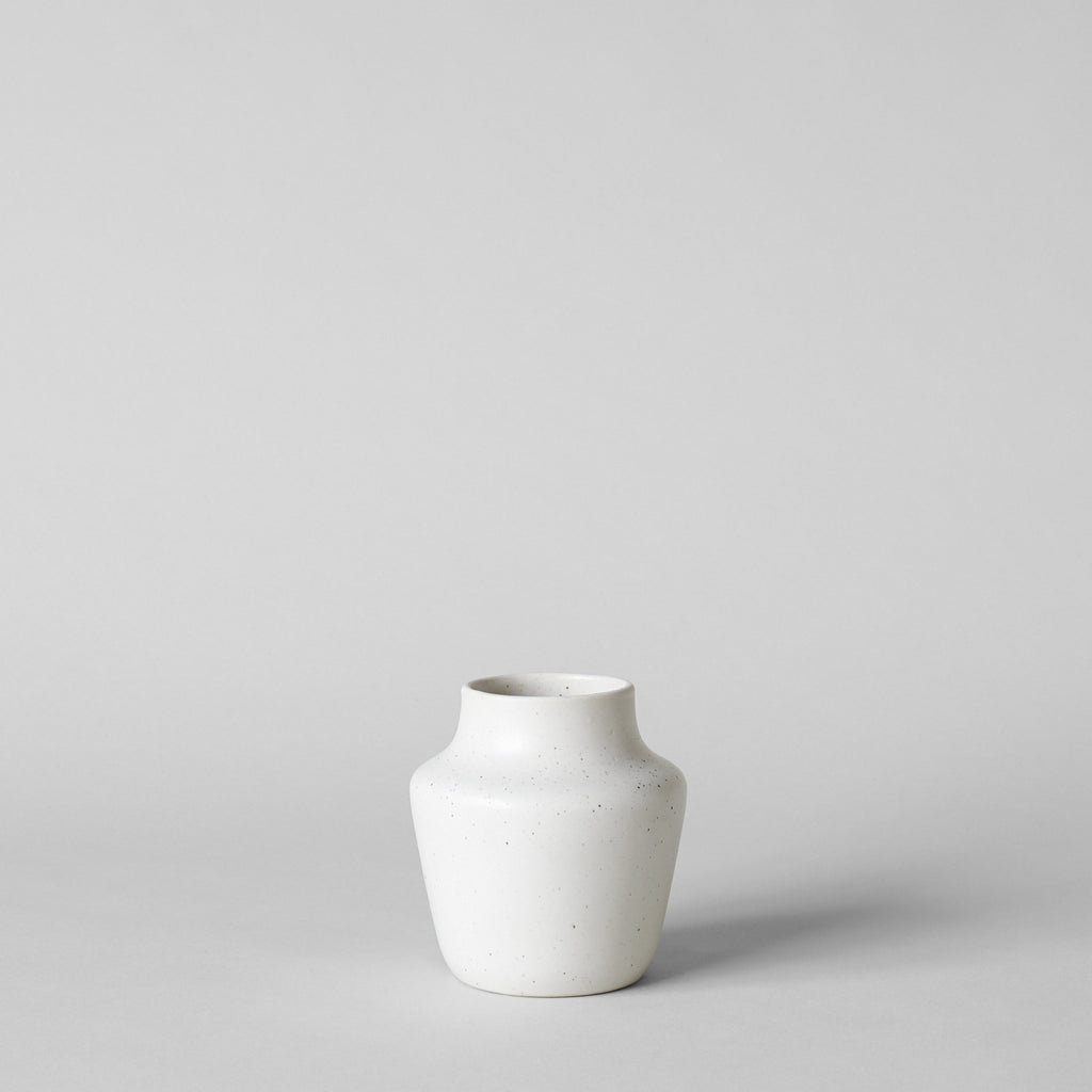 Empty Medium Sized Ikebana Vase in White - Bloomist
