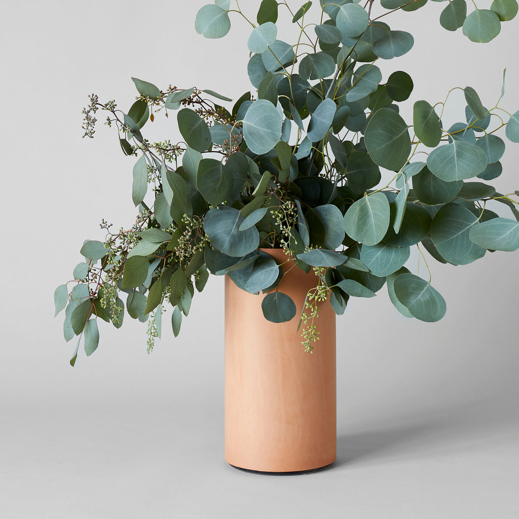 Leather Wrapped Vase - Bloomist