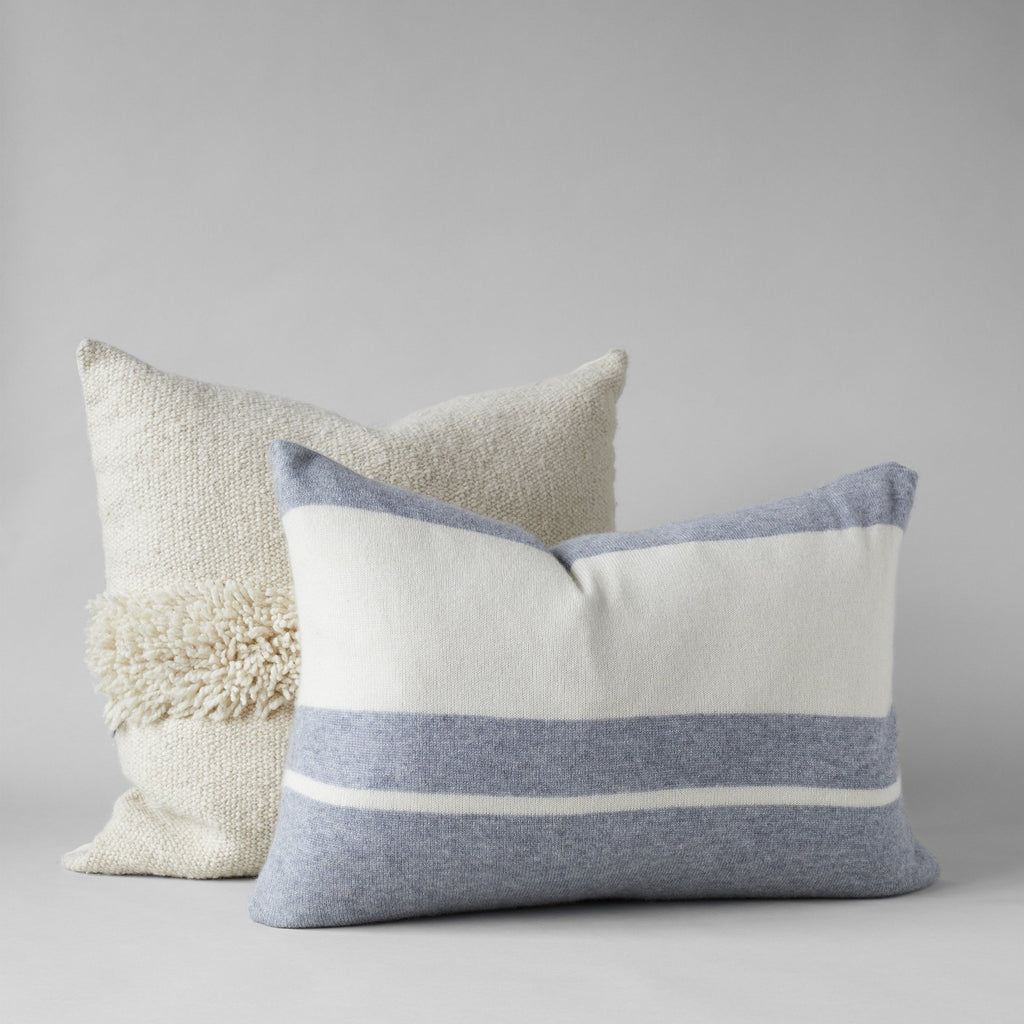 Cashmere Pillow, Feather Grey/White