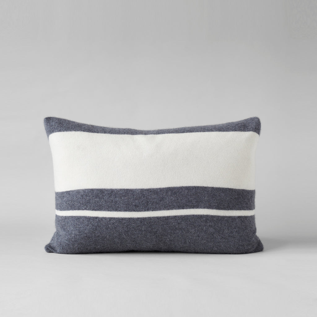 Cashmere Pillow, Charcoal/White